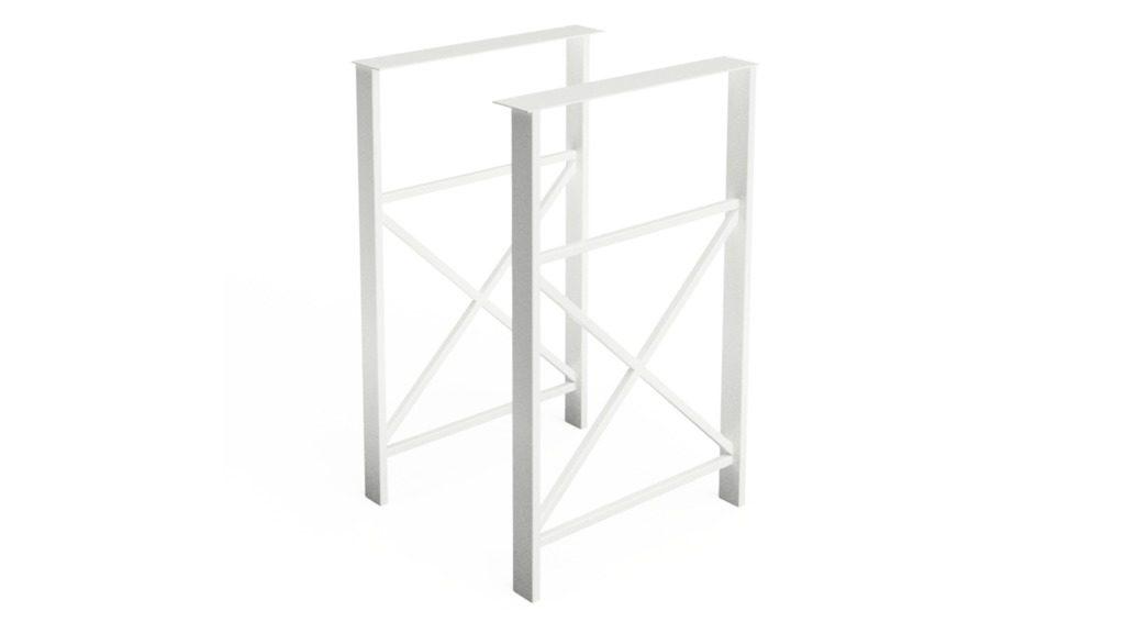 біла опора для барного стола Loft am-l-06