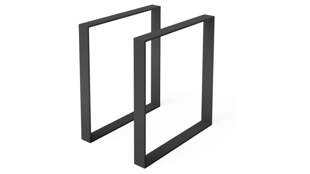 чорна металева ножка для стола am-l-04