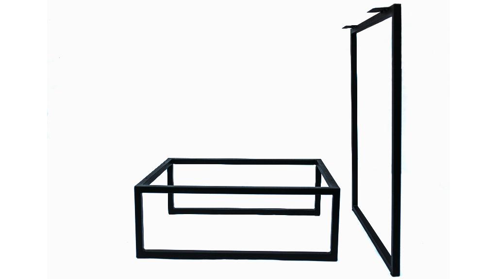 Комплект металевої опори і каркасу під стільницю та тумбу для офісного стола am-l-09