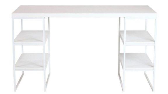 Стіл комп'ютерний Loft білий- AM 06
